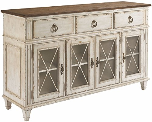 American Drew Sideboard - Southbury Sideboard in Distressed White Finish by American Drew