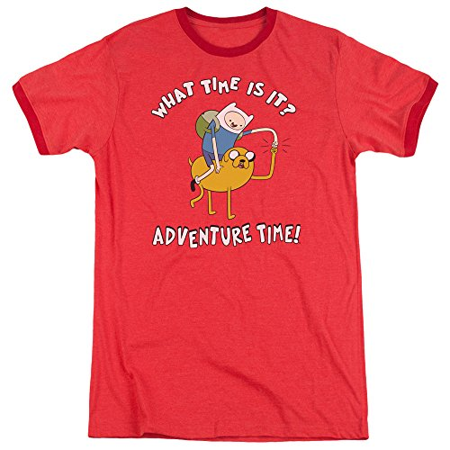 Ringer Hommes shirt Bump Pour Time T Adventure Ride Red Xwa6xS