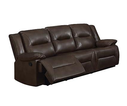 Amazon.com: Acme Furniture 52815 Romulus Recliner Sofa, Espresso ...