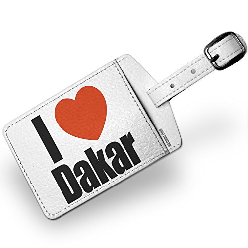 Luggage Tag I Love Dakar region: of Senegal, Africa - NEONBLOND by NEONBLOND