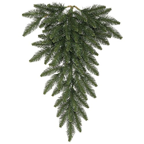 Vickerman Camdon Fir Teardrop Swag, 30-Inch, Green Camdon Tree