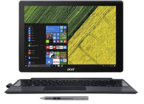 Acer SW512-52-55YD Switch 5, 12.0' QHD Touch 2-in-1 Laptop/Tablet, 7th Gen Intel Core i5-7200U, 8GB LPDDR3, 256GB SSD, Active Stylus, Black