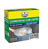 Member's Mark 45-50 gal.220 ct recycling Clear high density Commercial Trash Bags For ulky trash Clear High Density by Member's Mark