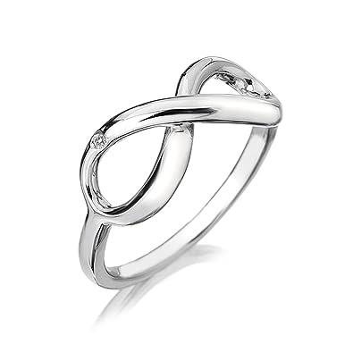Hot Diamonds Infinity Sterling Silver 1pt Diamond Earrings, 14-mm