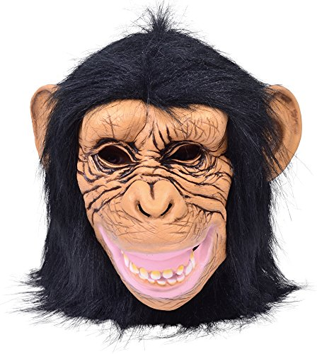 Bristol Novelty BM515 Chimp Mask Latex (One -