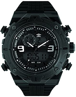 UMBRO UMB-013-1 Unisex ABS Black Band, ABS Bezel 48mm Case Digital MIYOTA AL35 SR626Sw Electronic Precision Movement Water Resistant 5 ATM Sport Watch