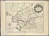 Historic Map | 1706 Carte de l'evescheI? de Nantes | Antique Vintage Reproduction
