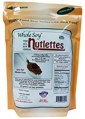 - Dixie Diner's Club Carb Counters Whole Soy Nutlettes, 1lb
