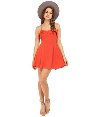 83f7d5eea221b Free People Women s More Than a Mini Dress Coral Medium at Amazon Women s  Clothing store