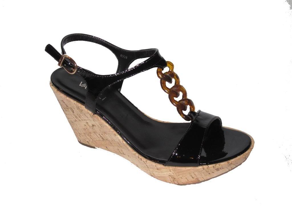 Vaneli 'Emalee' Cork Wedge Sandal B00JBDGGDW 8 C/D US|Black