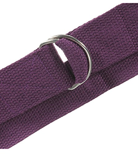 Natuworld 6-Foot Yoga Straps - Durable Non-stretch Cotton Twill with Metal D-rings Buckle Yoga Accessories for Pilates Stretch, Exercises, Aerobics to Extend Reach, Grasp Limbs