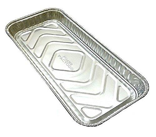 12 inch x 5 inch Oblong Aluminum Foil Danish/Cake Pan 1 inch Deep
