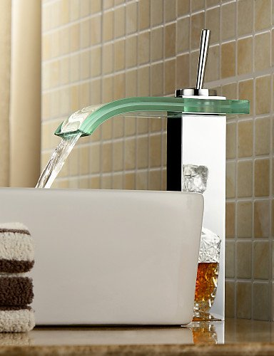 Zeitgenössische WasserfaÖl Waschbecken Wasserhahn mit Glasauslauf