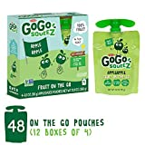 GoGo squeeZ Applesauce on the Go, Apple Apple, 3.2 Ounce (48 Pouches), Gluten Free, Vegan Friendly, Healthy Snacks, Unsweetened Applesauce, Recloseable, BPA Free Pouches