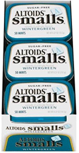 Altoids Smalls Sugar Free Wintergreen Mints 9 packs (0.5o...