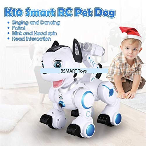 Bsmart toys Intelligent Hi-Tech Wireless Robot Dog ,Remote Control Educational Puppy Pet Best Birthday Gift for 5,6,7,8,9 Years Boys and Girls Interactive Robotic Friend by Bsmart toys (Image #3)