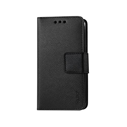 Reiko wallet case 3 in 1 for Samsung Galaxy Note 5 black with interior polymer