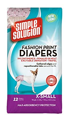 Simple Solution Fashion Print Disposable Dog Diapers
