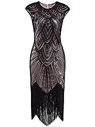 Long Sequin Beaded Flapper Dresses