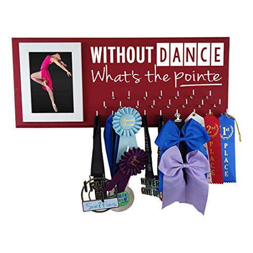 Running On The Wall-Gifts for Athletes-Medal Display Rack-Medal Holder for Athletes-Without Dance What's The ()