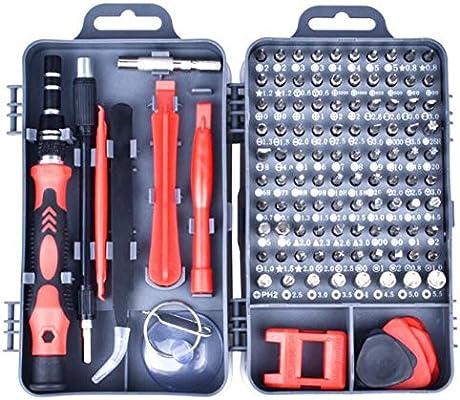 Juego de destornilladores Juego de destornilladores de precisión Herramienta de reparación 115 en 1 con estuche portátil para computadora portátil Reloj de teléfono-Rojo: Amazon.es: Bricolaje y herramientas