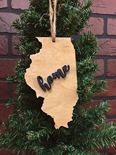Illinois State Tree - Illinois State Christmas Tree Ornament Keepsake Decoration Holiday Gift Home Ornie Party Favor