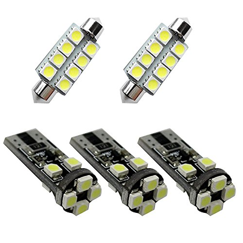 For SKODA Octavia RS Fabia Rapid Led Interior Lights Led Interior Car Lights Bulbs Kit White 2010-2017 5pcs