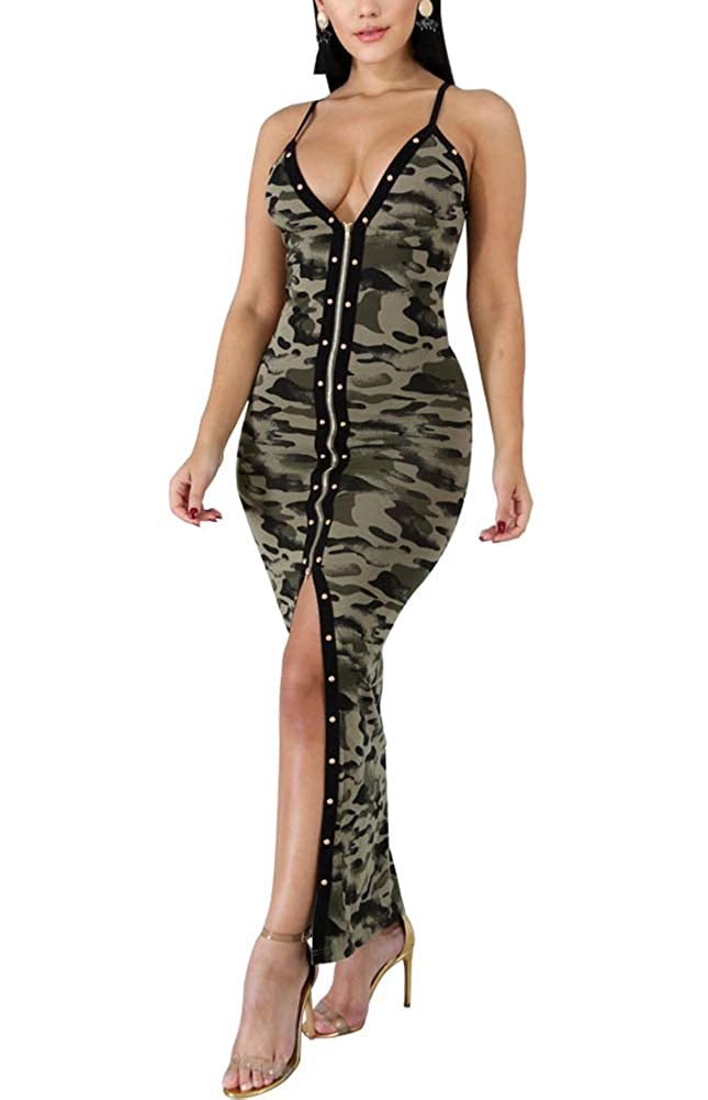 1 camo Deloreva Women Semi Formal Dress Elegant Sparkly Long Evening Cocktail Ball Gowns Vintage Party Wear