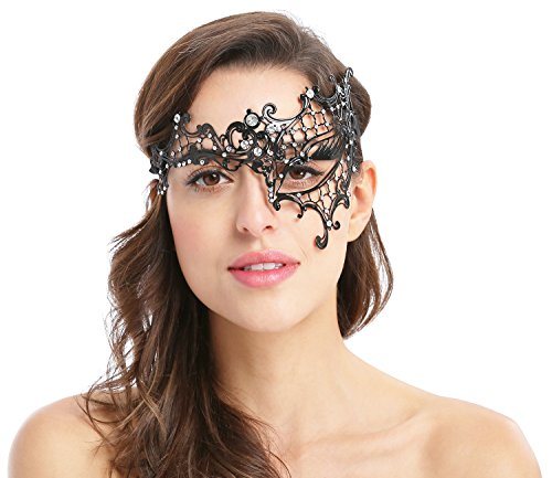 Women's Sexy Signature Phantom Of The Opera Masquerade Mask,Left