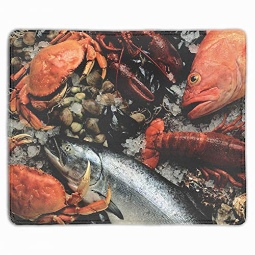 Fresh Mussel Fish - Fresh Fish Crab Lobster Mussels Non-Slip Rubber Mousepad Gaming Mouse Pad Mat