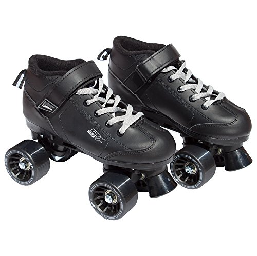 Black Pacer Mach-5 GTX500 Quad Speed Roller Skates (Mens 7 / Ladies 8)