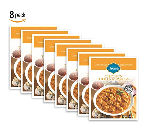Basu's HomeStyle Chicken Tikka Masala fully prepared entrée pouch (7oz x 8 pack) - Indian curry flavors from ()