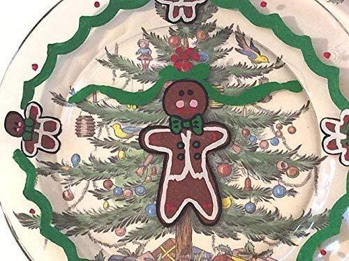 Gingerbread Dinnerware, Christmas Plates, Gingerbread Men, Hand painted, Christmas