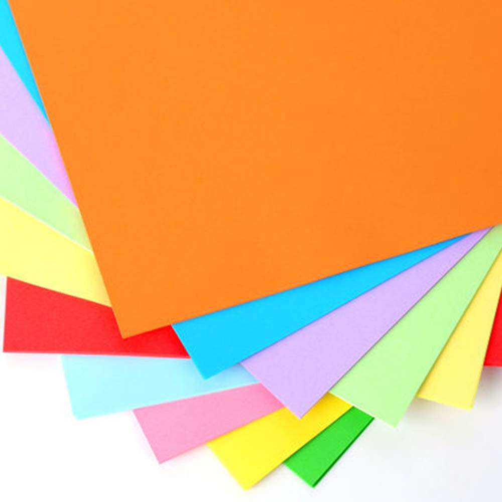 24lb 10 Colored Handmade Folding Paper Square Paper Origami Paper for Kids DIY,10 x 10inch 100sheets by Gnatural