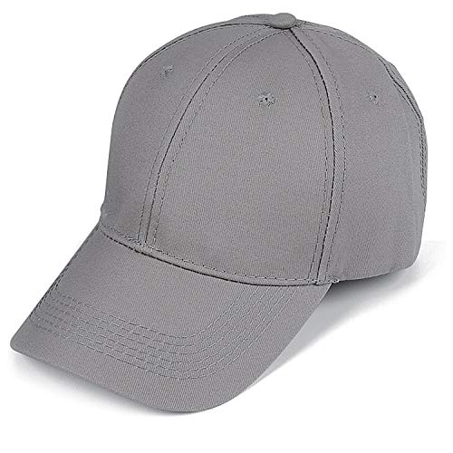 Baseball Cap Men Women Classic Plain Hat Twill Low Profile Unisex Hat Adjustable Size ()