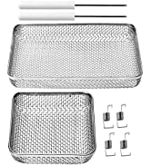 wadoy RV Furnace Screen for RV Water Heater Vent Cover, Stainless Steel Mesh with Installation Tool