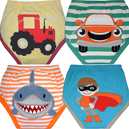 MOM & BAB Potty Training Underwear for Toddlers | Free Wet Bag | 3 X Absorbent | Washable Pants | Soft Cotton | Train Faster (Medium)