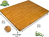 Somarian Groove Stunning Double Sided Design Cutting and Chopping Bamboo Board, 13'' x 9'' Medium