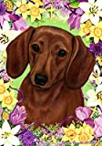 Dachshund Red – Tamara Burnett Easter Flowers Large Flags For Sale