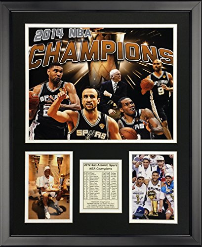 Legends Never Die San Antonio Spurs - 2014 NBA Champions - Collage - Framed Photo Collage, 16