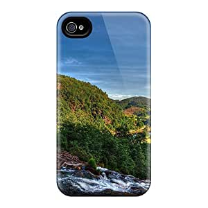 Top Quality Rugged Mountain Stream Down To A River Valley Hdr Cases Covers For Iphone 6plus