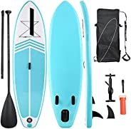 InflatablePaddle BoardStand Up Paddle BoardSUP withPremium Stand-up Paddle Board Accessories& Non-Sli