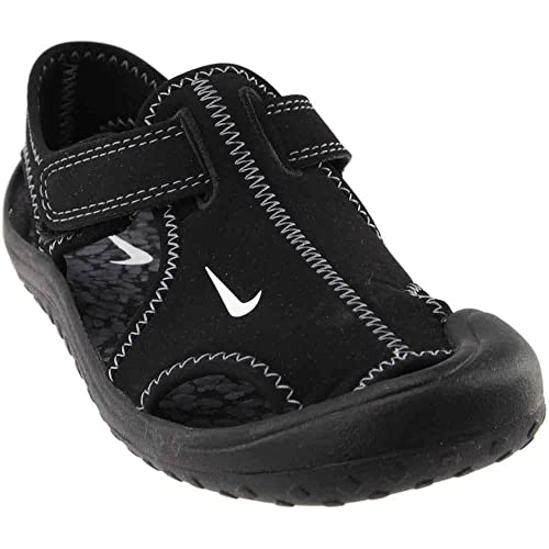 2aa76a93d02 Image Unavailable. Image not available for. Color: Nike Kids Boy's Sunray  Protect (Little Kid) Black/White/Dark Grey Sandal