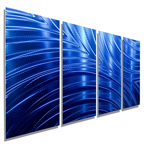 Blue Metal Wall Art Sculpture - Bold Winter wall decor