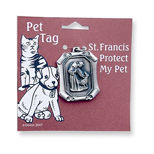 Rectangle Saint Francis Pet Tag
