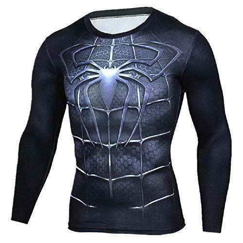 (The Spider-Man-Black-Long T-Shirt (XXL))