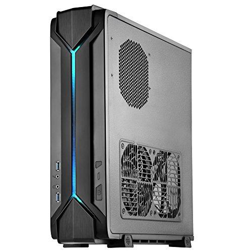 SilverStone SST-RVZ03B - Raven Mini-ITX Gaming Computer Case, RGB, black