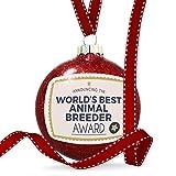 Christmas Decoration Worlds Best Animal Breeder Certificate Award Ornament