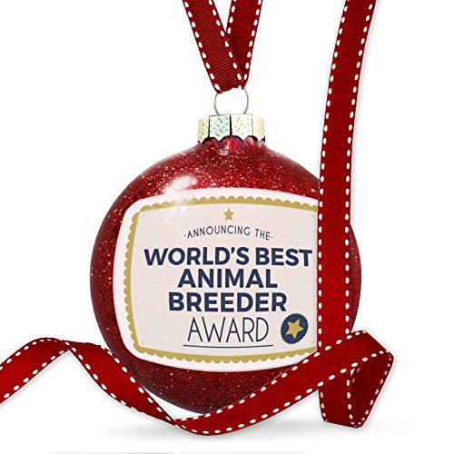 Christmas Decoration Worlds Best Animal Breeder Certificate Award Ornament by NEONBLOND