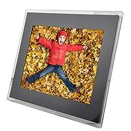 Acrylique LED HD Cadre photo numérique Support multimédia Lecture de musique et vidéo Carte mémoire SD et télécommande applicable pour des cadeaux Occasions